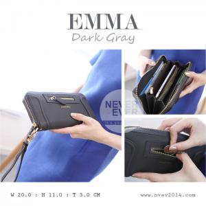 กระเป๋าสตางค์ผู้หญิง รุ่น EMMA สีเทาเข้ม Dark Gray