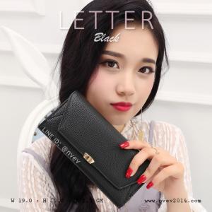 กระเป๋าสตางค์ผู้หญิง รุ่น LETTER สีดำ