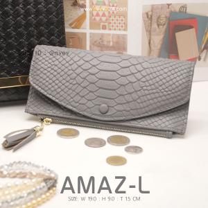 กระเป๋าสตางค์ผู้หญิง AMAZ-L สีเทาเข้ม