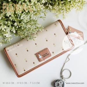 กระเป๋าสตางค์ผู้หญิง FLORA-L-Latte