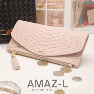 กระเป๋าสตางค์ผู้หญิง AMAZ-L สีชมพู