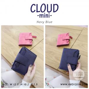 กระเป๋าสตางค์ผู้หญิง CLOUD-MINI สีน้ำเงิน กรมท่า