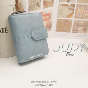 กระเป๋าสตางค์ผู้หญิง JUDY สีฟ้า