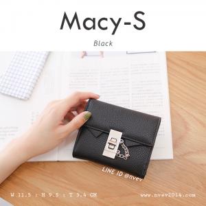 กระเป๋าสตางค์ผู้หญิง ใบสั้น รุ่น MACY-S สีดำ