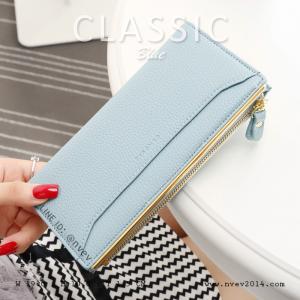 กระเป๋าสตางค์ผู้หญิง รุ่น CLASSIC สีฟ้า