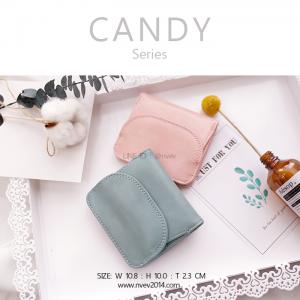 กระเป๋าสตางค์ผู้หญิง ใบสั้น รุ่น CANDY สีฟ้าเรโทร