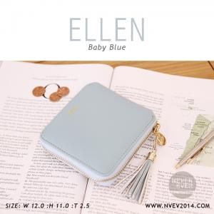 กระเป๋าสตางค์ผู้หญิง ELLEN สีฟ้าอ่อน Baby Blue