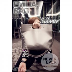 กระเป๋าสะพายข้าง รุ่น EMILIABAG - Silver