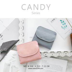 กระเป๋าสตางค์ผู้หญิง ใบสั้น รุ่น CANDY สีชมพู