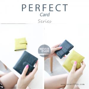 กระเป๋าใส่บัตร รุ่น PERFECT Card สีเขียวมะนาว
