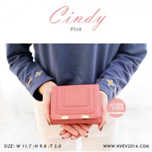 กระเป๋าสตางค์ผู้หญิง CINDY สีชมพู