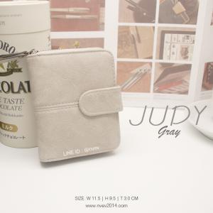 กระเป๋าสตางค์ผู้หญิง JUDY สีเทา
