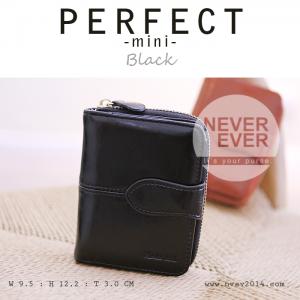 กระเป๋าสตางค์ผู้หญิง รุ่น PERFECT-mini สีดำ ใบสั้น
