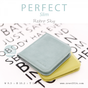 กระเป๋าสตางค์ผู้หญิง PERFECR Slim สีฟ้า