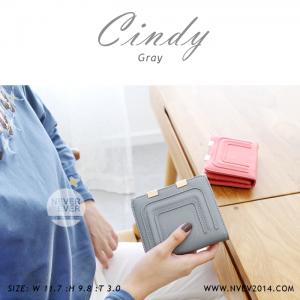 กระเป๋าสตางค์ผู้หญิง CINDY สีเทาอ่อน
