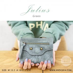 กระเป๋าสตางค์ผู้หญิง JULIUS สีเขียว