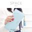 กระเป๋าสตางค์ผู้หญิง ทรงถุง รุ่น SPACE สีฟ้า thumbnail 3