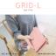 กระเป๋าสตางค์ผู้หญิง รุ่น GRID-L สีชมพูเข้ม ใบยาว สองซิป thumbnail 19