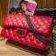 กระเป๋าหนังแกะ Red ทรงชาแนล คลาสสิก (28x17x8cm) SALE !!! thumbnail 1