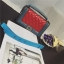 กระเป๋าหนัง ทรงชาแนลบอย Happy summer (Red-Gray) 10 นิ้ว thumbnail 5