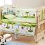 B10107 เตียงนอนไม้สามารถปรับเป็นโต๊ะเฟอร์นิเจอร์ได้ ลายเบาะ Jungle thumbnail 1