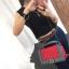 กระเป๋าหนัง ทรงชาแนลบอย Happy summer (Red-Gray) 10 นิ้ว thumbnail 4