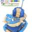 TP12306 รถเข็นหัดเด็กเดิน ปรับเป็นเปลไกวได้ สีฟ้า thumbnail 1