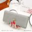 กระเป๋าสตางค์ผู้หญิง ใบยาว รุ่น DIAMONDS-L สีน้ำเงิน thumbnail 8