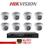Hikvision (( Camera Set 8 )) DS-2CE56C0T-IR x 8 , DS-7208HQHI-F2/N x 1 thumbnail 1