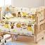 B10108 เตียงนอนไม้สำหรับเด็ก สามารถปรับเป็นโต๊ะเฟอร์นิเจอร์ได้ เบาะลายสวนสัตว์ thumbnail 1