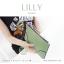 กระเป๋าสตางค์ผู้หญิง ทรงถุง กระเป๋าคลัทช์ สีม่วง รุ่น LILLY thumbnail 14