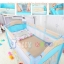 B10102 เตียงนอนเด็ก แบบน่ารัก สินค้าใหม่นำเข้าพร้อมชั้นวางที่เปลี่ยนผ้าอ้อม (A1สีฟ้า) thumbnail 7