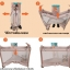 B10123 Playpen เตียงนอนเด็ก สินค้าใหม่นำเข้าพร้อมชั้นวางที่เปลี่ยนผ้าอ้อม (BP1สีชมพู) thumbnail 9