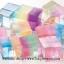 พร้อมส่ง ** Bicolor Water Expanding cubes เม็ดบอลแช่น้ำแล้วพองตัว ทรงสี่เหลี่ยม สองสีในก้อนเดียว *เป็นของเล่น ทานไม่ได้* thumbnail 1