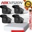 Hikvision (( Camera Set 4 )) HD720P (DS-2CE16C0T-IT3 x 4, DS-7104HGHI-F1 x 1) thumbnail 1