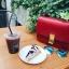 กระเป๋าหนัว Celine box (Cherry Red 24) หนังเงา thumbnail 2