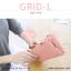 กระเป๋าสตางค์ผู้หญิง รุ่น GRID-L สีชมพูเข้ม ใบยาว สองซิป thumbnail 20