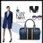 กระเป๋าหนังวัวแท้ Speedy blue thumbnail 3