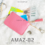 กระเป๋าสตางค์ผู้หญิง ทรงถุง รุ่น AMAZ-B2-L สีชมพูเข้ม thumbnail 14
