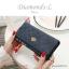 กระเป๋าสตางค์ผู้หญิง ใบยาว รุ่น DIAMONDS-L สีน้ำเงิน thumbnail 2