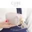 กระเป๋าสตางค์ ใส่เหรียญ รุ่น CUBE สีม่วง thumbnail 3