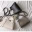 กระเป๋าหนังวัวแท้ Fendi Gray (21x17x12cm) thumbnail 4