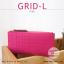 กระเป๋าสตางค์ผู้หญิง รุ่น GRID-L สีชมพูเข้ม ใบยาว สองซิป thumbnail 1