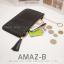 กระเป๋าสตางค์ผู้หญิง ทรงถุง รุ่น AMAZ-BL สีดำ thumbnail 5