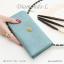 กระเป๋าสตางค์ผู้หญิง ใบยาว รุ่น DIAMONDS-L สีน้ำเงิน thumbnail 24