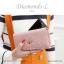 กระเป๋าสตางค์ผู้หญิง ใบยาว รุ่น DIAMONDS-L สีน้ำเงิน thumbnail 11