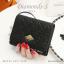 กระเป๋าสตางค์ผู้หญิง ใบสั้น รุ่น DIAMONDS-S สีดำ thumbnail 1