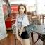 กระเป๋าหนังแกะแท้ ทรง chanel คลาสสิก ( ขนาด 30x20x11cm) thumbnail 3