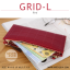 กระเป๋าสตางค์ผู้หญิง รุ่น GRID-L สีชมพูเข้ม ใบยาว สองซิป thumbnail 7