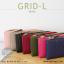 กระเป๋าสตางค์ผู้หญิง รุ่น GRID-L สีชมพูเข้ม ใบยาว สองซิป thumbnail 12